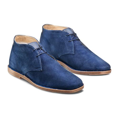 Desert Boots in suede bata, blu, 823-9420 - 16