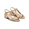 Sandali con tacco basso insolia, beige, 661-8131 - 16