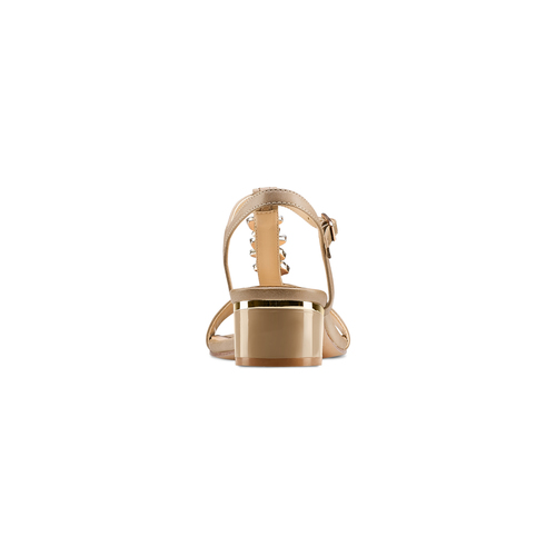 Sandali con tacco basso insolia, beige, 661-8131 - 15