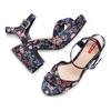 Sandali con inserti floreali bata-rl, rosa, 769-5328 - 26