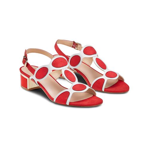 Sandali con tacco basso insolia, rosso, 669-5297 - 16
