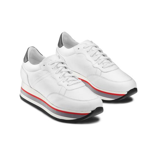 Sneakers Platform bata, bianco, 644-1102 - 16