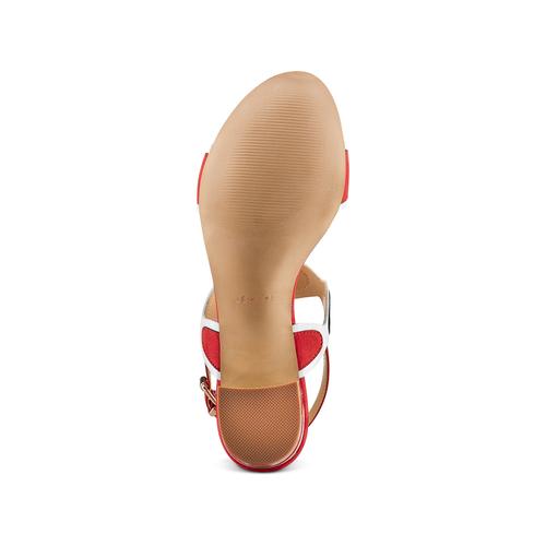 Sandali con tacco basso insolia, rosso, 669-5297 - 19