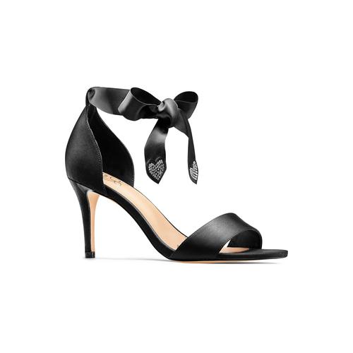 Sandali con fiocco insolia, nero, 769-6285 - 13