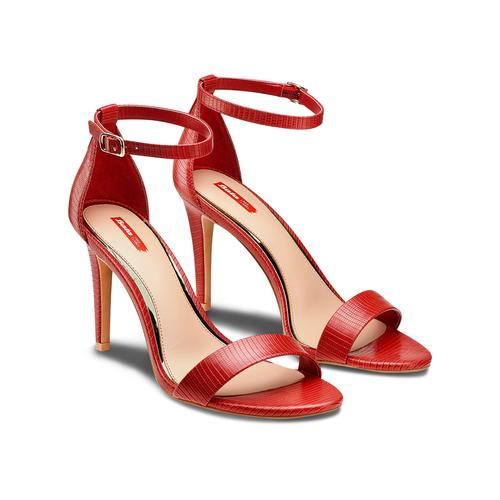 Sandali con tacco alto bata-rl, rosso, 761-5335 - 16