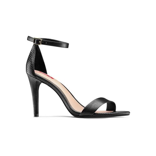 Sandali con tacco alto bata-rl, nero, 761-6335 - 13