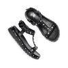 Sandali da bambina mini-b, nero, 361-6237 - 26
