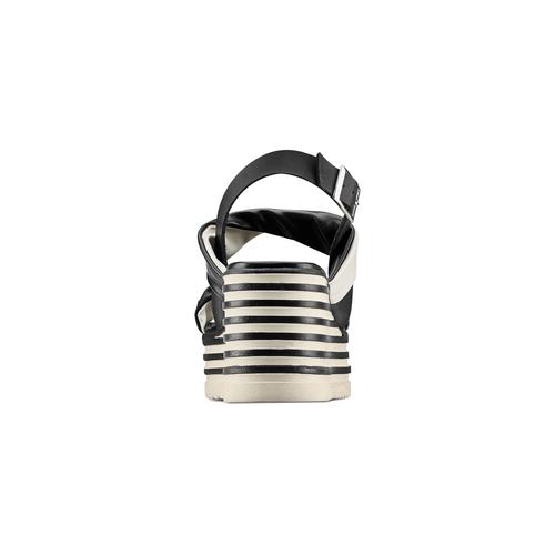 Sandali con zeppa bata, nero, 661-6282 - 15