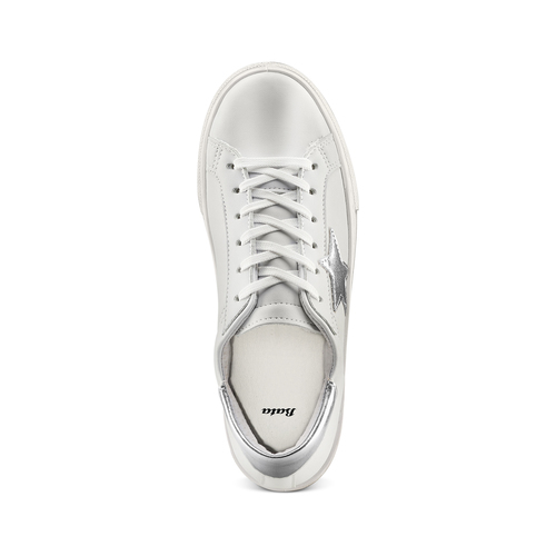 Sneakers con stella bata, bianco, 541-1376 - 17