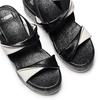 Sandali con zeppa bata, nero, 661-6282 - 26