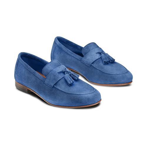 Mocassini con nappa bata-the-shoemaker, blu, 853-9140 - 16