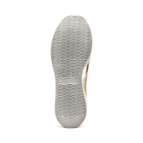 Sneakers Casual bata, beige, 523-8459 - 19