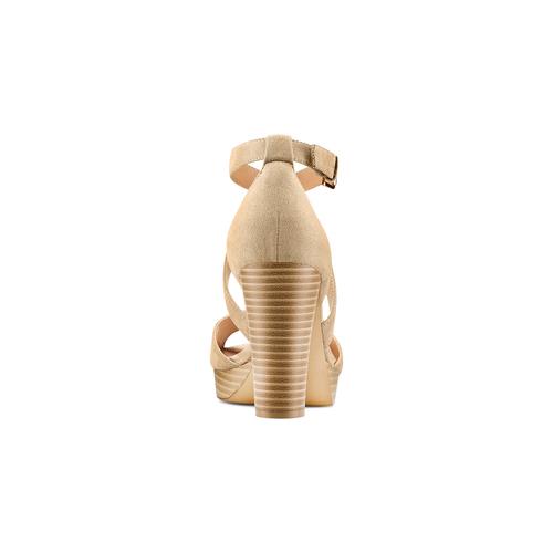 Sandali con tacco insolia, beige, 769-8263 - 15