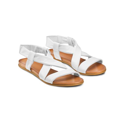 Sandali in pelle bata, bianco, 564-1443 - 16