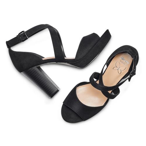 Sandali con tacco insolia, nero, 769-6263 - 26