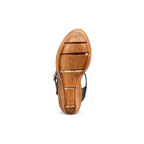 Sandali con zeppa bata, nero, 764-6226 - 19