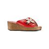 Ciabatte in vera pelle bata-comfit, rosso, 774-5107 - 13