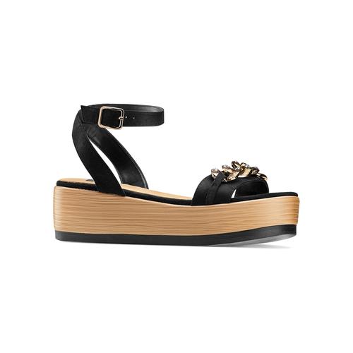 Sandali con zeppa bata, nero, 669-6353 - 13