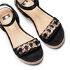 Sandali con zeppa bata, nero, 669-6353 - 26