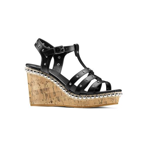 Sandali con borchie bata, nero, 761-6235 - 13
