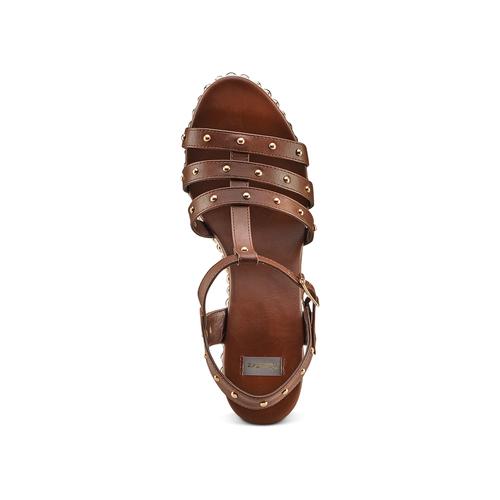 Sandali con borchie bata, marrone, 761-4235 - 17