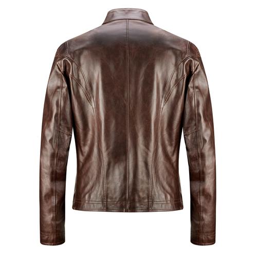 Giacca in pelle bata, marrone, 974-4134 - 26