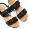 Sandali con strass bata, nero, 569-6256 - 26