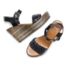Sandali con zeppa bata, nero, 761-6312 - 26