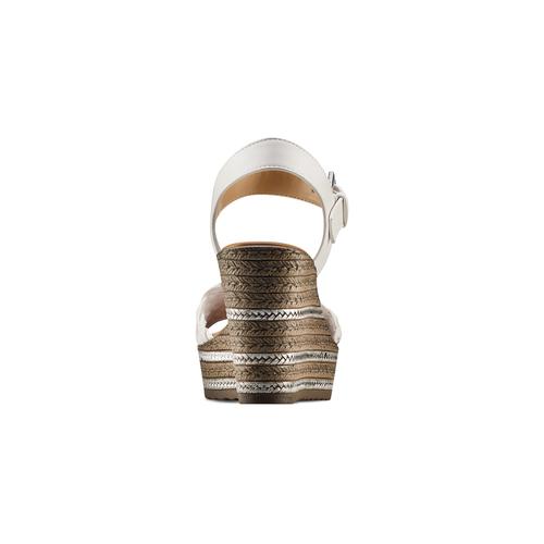 Sandali con zeppa bata, bianco, 761-1312 - 15