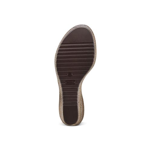 Sandali con zeppa bata, bianco, 761-1312 - 19