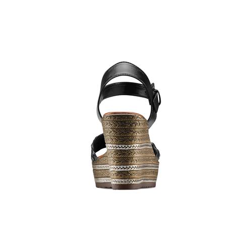 Sandali con zeppa bata, nero, 761-6312 - 15