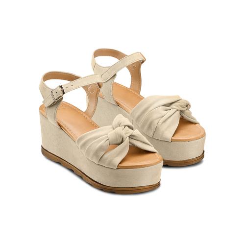 Sandali con fiocco bata, marrone, 763-3271 - 16