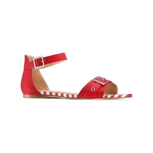 Sandali da donna insolia, rosso, 569-5277 - 13