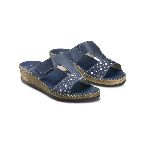 Ciabatte Comfit bata-comfit, blu, 574-9438 - 16