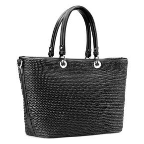 Shopper in rafia bata, nero, 969-6297 - 13