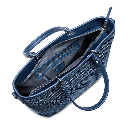 Shopper in rafia bata, blu, 969-9297 - 16