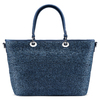 Shopper in rafia bata, blu, 969-9297 - 26