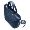 Shopper in rafia bata, blu, 969-9297 - 17