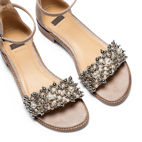 Sandali con cinturino bata, beige, 569-8208 - 26
