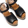 Sandali con tacco largo bata, nero, 764-6437 - 26