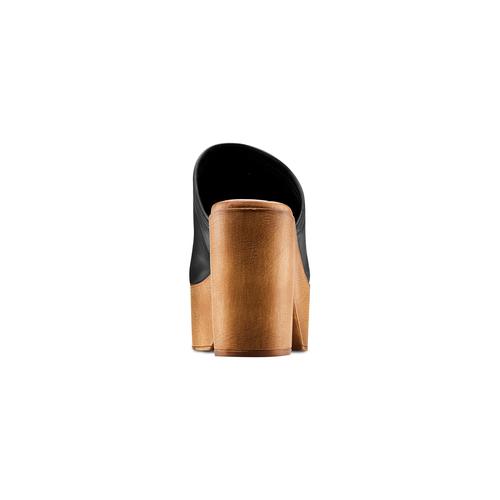 Mule con tacco largo bata, nero, 764-6436 - 15