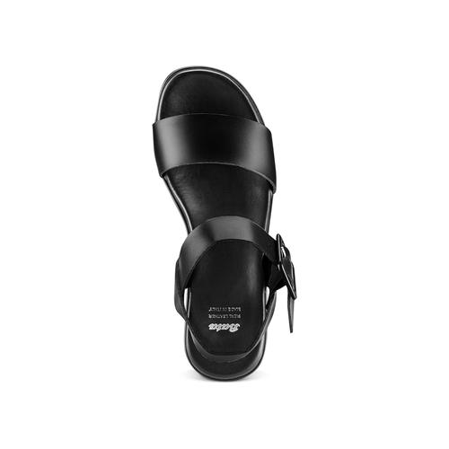 Sandali con zeppa bata, nero, 764-6445 - 17