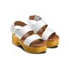 Sandali zeppa effetto legno bata, bianco, 664-1369 - 16