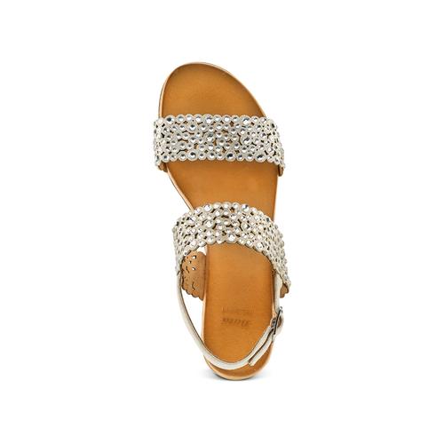 Sandali con strass bata, grigio, 569-2256 - 17
