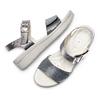 Sandali da donna bata-touch-me, argento, 564-2354 - 26