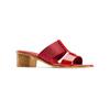 Ciabatte con tacco bata, rosso, 671-5835 - 13