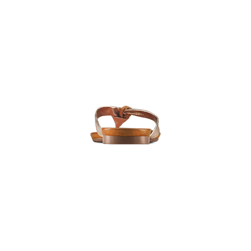 Infradito in pelle bata, oro, 564-8321 - 15