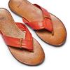 Infradito in pelle bata, arancione, 564-5321 - 26