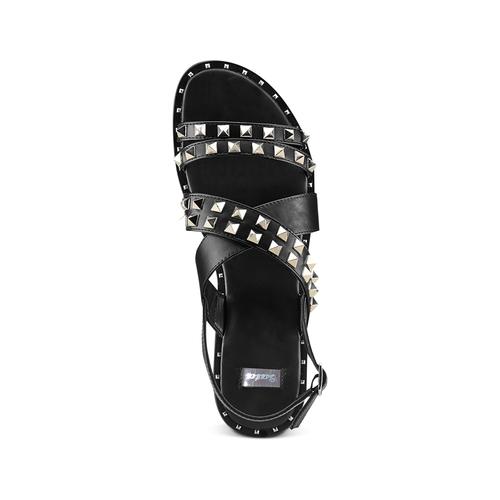 Sandali con borchie bata, nero, 561-6245 - 17