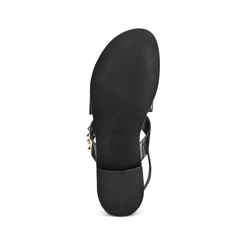 Sandali con borchie bata, nero, 561-6245 - 19